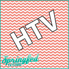 CHEVRON Stripes Pattern HTV #1 Coral & White Heat Transfer Vinyl for Shirts