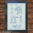 Star Wars AT AT Blueprint VERY RARE Reproduction Vintage Wall Art Print #13