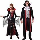 Couples Idea: Mens Womens Vampire Halloween Fancy Dress Costume