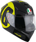 AGV 2017 Adult K3SV 46 Rossi Black/Yellow Motorcycle Helmet SM-2XL