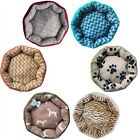 nEw Small Round DOG-CAT PET BED - 20x20 Plush Puppy Floor Pillow Cushion