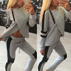 Fashion Women Lady Tracksuit Hoodies Sweatshirt Pants Sets Sport Wear Suit MO