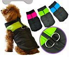 5 Sizes - Dog Puppy Jacket w Built In D-ring Harness - Puffer Vest Coat w Zipper