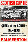 QUEEN OF THE SOUTH - VINTAGE STYLE MATCH POSTER 1936/37