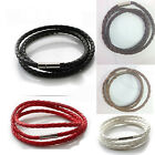 Hot Stainless Steel  Braided Genuine Leather Cord Necklace/Bracelet TB