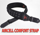 AIRCELL Padded Comfort Electric Guitar / Bass Guitar Strap 8cm Wide Extra Padded