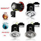 4/40pcs Fire Rated IP20 IP65 Waterproof 10W Tilt Recessed COB LED Downlight Kits