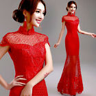 LF328 New Red Formal Wedding Prom Party Bridesmaid Evening Ball Gown Dress