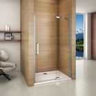 Frameless pivot shower enclosure and tray walk in door glass screen cubicle