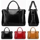 New women ladies solid leather large elegant messenger bag satchel purse tote