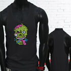 Zombie Melting Face Halloween Scary Costume Gummy Mens Black Sports Tank Top