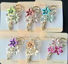 New Vintage Rhinestone colors flower Brooches For Women Pin Crystal Broches