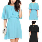 UK6-26 Plus Size Womens Loose Summer Evening Party Chiffon Cocktail Dress New