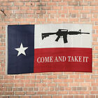 Come and Take It Texas Style 2 Flag 3'x5' Ft Polyester Grommets Indoor New