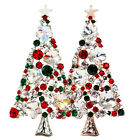 Amazing Colorful XMAS Tree Shaped Brooch Rhinestone Cluster Shiny Pin Gift MO