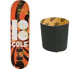 "PLAN B Skateboard Deck COLE HIPNOSIS 8.5"" with MOB Griptape"