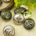 12PCS Fashion Bronze Rosegold Resin Shank Buttons For Sewing Shirt Coat 18mm
