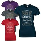 Made in 1957 Ladies Fitted T-Shirt - Born 60th Year Vintage Birthday Present