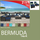 Bermuda 17 Piece Outdoor Wicker Patio Package BERMUDA-14a-K - Navy