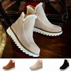 New Women Girls Flat Heel Ankle Boots Fur Lined Warm Winter Snow Boots Shoes