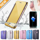 For iPhone 7/7 Plus Luxury Mirror Case Clear TPU Cover + Tempered Glass Film LOT