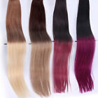"""16-24""""PU Seamless Skin Tape In Weft Remy Human Hair Extensions Straight T Colour"""