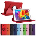 Rotating PU Leather Stand Case Cover Skin fr Samsung Galaxy Tab 4 7.0 SM-T230 7""