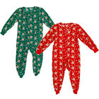 Red Super-Soft Childrens Xmas Onesie Sleepsuit Rudolph the Red-Nosed Reindeer
