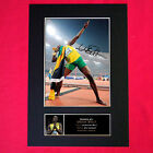 USAIN BOLT Mounted Signed Photo Reproduction Autograph Print A4 267
