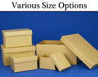 Paper Mache Rectangular High Boxes with Lids to Decorate - Choice of Sizes