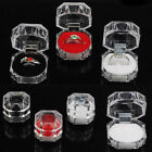 New 20PCS Wholesale Plastic Crystal Lots Jewelry Ring Display Storage Boxes Case