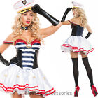 K279 Sailor Sexy Pin Up Rockabilly Navy Captain 50s Party Fancy Dress Up Costume