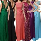 Sexy Backless Formal Ball Gown Evening Bridesmaid Party Women Long Prom Dress