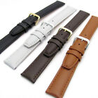 Smooth Padded Replacement Leather Watch Strap 16mm 18mm 20mm 4 Colours C009