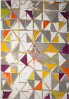 Rugs Multi-Color Abstract Area Rug Geometric Triangles Floor Decor Large Carpet