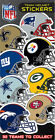 "(1) NFL Helmet Sticker Football 2 1/2"" x 3 1/2"" (YOU PICK ONE!) on eBay"