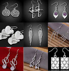 CHIC Women Jewelry 925 Silver Sterling vintage Dangle Earrings Elegant Stud