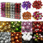 24Pcs Glitter Christmas Tree Hanging Balls Baubles Xmas Tree Ornament Decoration