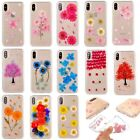 Pressed Dried Flower Daisy Transparent Soft Case Cover For iPhone X 8 7 6 Plus 5