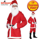 CA123 Bargain Men Red Santa Claus Suit Christmas Xmas Fancy Dress Costume Outfit