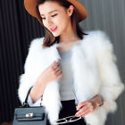 Charming Women Fashion Casual Fox Fur Coat Warm Winter Coat Slim Outwear Jacket