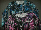 MoonShine Long Sleeve Muddy Girl Undertow Shirt *XL XXL XXXL* Pink Blue CAMO