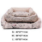 Pet Dog Bed Cushion Mat Soft Warm Cozy Vintage Style Kennel Beds Mat Cushion Pad