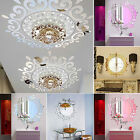 3D Feather Mirror Wall Sticker Home Decoration Room Decal Mural Art DIY Goodish