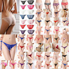 Women's Lace Briefs Lingerie Knickers G-string Thongs Panties Underwear V-String
