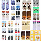 Boys Girls Kids Childrens Cute Cartoon Aniaml 3D Print Ankle Low Cut Socks CHIC