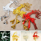 22x14cm Home Christmas Reindeer Tree Ornaments Bell Xmas Bauble Party Decor