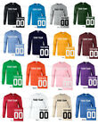 CUSTOM Long Sleeve T-Shirt JERSEY Personalized Name Number Football Softball NEW image