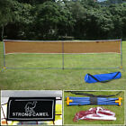Portable 3-in-1 Training Beach Volleyball Badminton Tennis Net Set w- Carry Bag