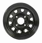 2-ITP Delta Black Steel Wheel Front Yamaha 93-04 400/450 Kodiak 4x4 -371363